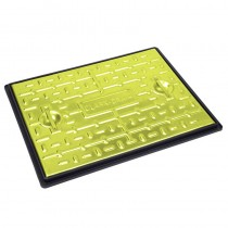 600x450mm Galv Manhole Cover & Frame Pedestrian (2.5Tonne) - Yellow