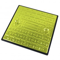 600x600mm Galv Manhole Cover & Frame Pedestrian (2.5Tonne) - Yellow