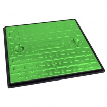 600x600mm Galv Manhole Cover & Frame Very Light Traffic (5Tonne) - Green