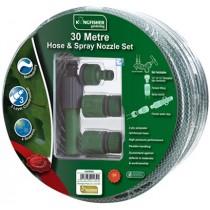 30M Hose & Spray Nozzle Set