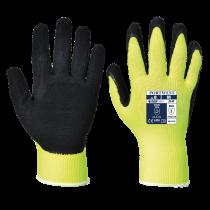 HI VIS Grip Glove Latex Yell/Black XLarge