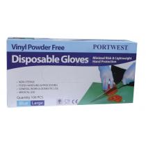 Portwest A905  Disp Gloves  (Pk100) Blue Xlarge