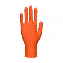 Portwest A930 Orange Nitrile HD  Disposable Gloves Large