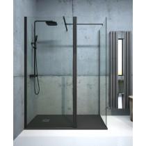 Aspect 800mm Wetroom Panel - Matt Black