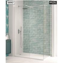 Aspect 800mm Wetroom Panel - Matt White