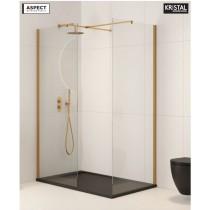Aspect 1100mm Wetroom Panel - Brushed Gold