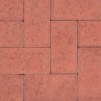 Paving Block Rectangular Red 200x100x50mm (Each)
