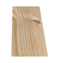 50 x 19mm White Deal Ovalo Door Stop Silkwood