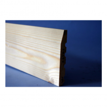 150 x 22mm White Deal Skirting Chamfered Silkwood