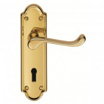 Ashtead Contract Lever On Plate Lock & 3 Hinges Satin EB Doorpack