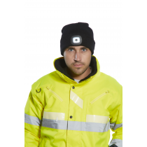Portwest Rechargeable Twin LED Beanie Grey