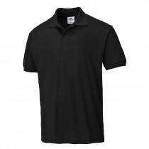 Portwest Verona Cotton Polo t-shirt Black XXLarge