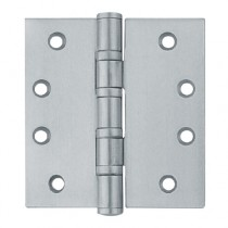 Butt Hinge 1 Hour Fire Rated 100x75x3mm Satin Stainless Steel Grade 13 (pair)