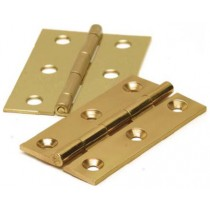 Butt Hinge 75mm Brass (pair)