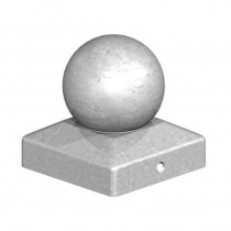 Metal Ball Finial Galv 4""