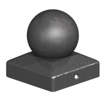 Metal Ball Finial Black 4""