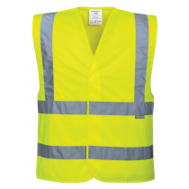 Portwest Hi-Vis 1 Band Vest Yellow S/M