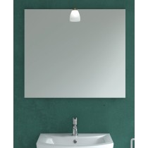 600mm x 700mm Mirror & Candela Bronze Light