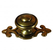 Cabinet Knob & Backplate Bronze