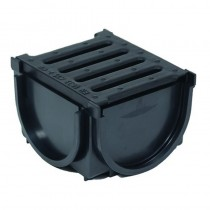 """Channel Drain Bottom Outlet (4"""" Sewer Pipe Compatible)"""
