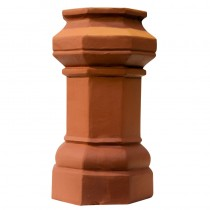 Chimney Pot 600mm Octagon Black