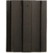 Concrete M Profile Tile Black