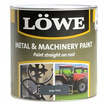 Lowe Metal & Machinery Paint Slate Grey 500ml
