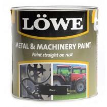 Lowe Metal & Machinery Paint Black 250ml