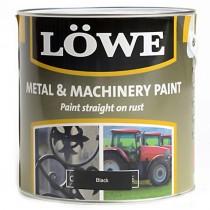 Lowe Metal & Machinery Paint Black 500ml