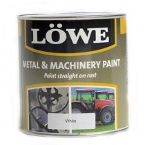 Lowe Metal & Machinery Paint White 250ml