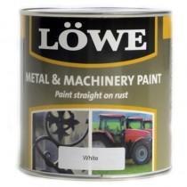 Lowe Metal & Machinery Paint White 500ml