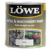 Lowe Metal & Machinery Paint White 1ltr