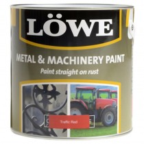 Lowe Metal & Machinery Paint Red 250ml