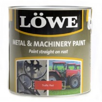 Lowe Metal & Machinery Paint Red 5ltr