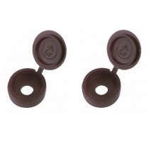Double Screw Caps Brown (25)