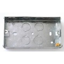 2 Gang Metal Socket Box