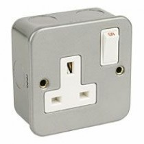 1 Gang Metal Socket + Switch