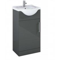 Belmont 45cm Vanity Unit Gloss Grey