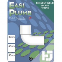Waste Knuckle Elbow M&F 90 Degree 40mm White