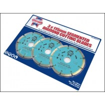 Faithfull 115mm Diamond Blade Triple Pack
