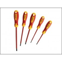 Faithfull Soft Grip VDE Screwdriver Set 5 Piece