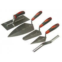 Trowel Set of 5 Soft Grip Handle