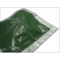 Tarpaulin Heavy/ Construction Grade Green/Silver 5.5x7.0m (18x23Ft)
