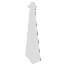 Finial Roofline Decor Moulding - White