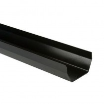 Square Gutter 5m Black