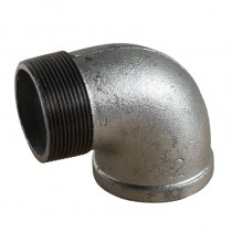 "Galvanised Elbow 1/2"" 90 Deg Male & Female"