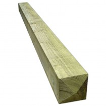 100x100mmx1.8m Square Pointed Post Treated Green