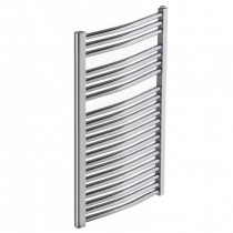 Heated Towel Rail Chrome Curved 1200x600