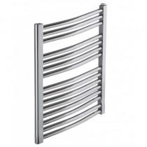 Heated Towel Rail Chrome Curved 800x500
