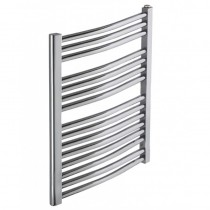 Heated Towel Rail Chrome Curved 800x600